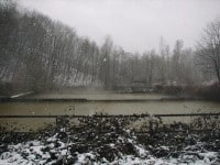 Sedimentationsbecken für Grubenabwasser