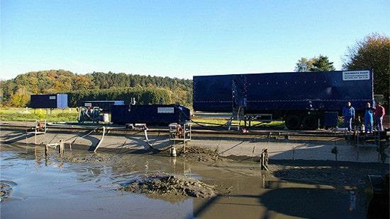 schlammentwässerung mit containern
