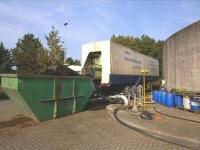 Kammerfilterpresse bei der Entwässerung von Klärschlamm