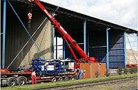 Aufbau einer teilstationären Anlage im Stahlwerk